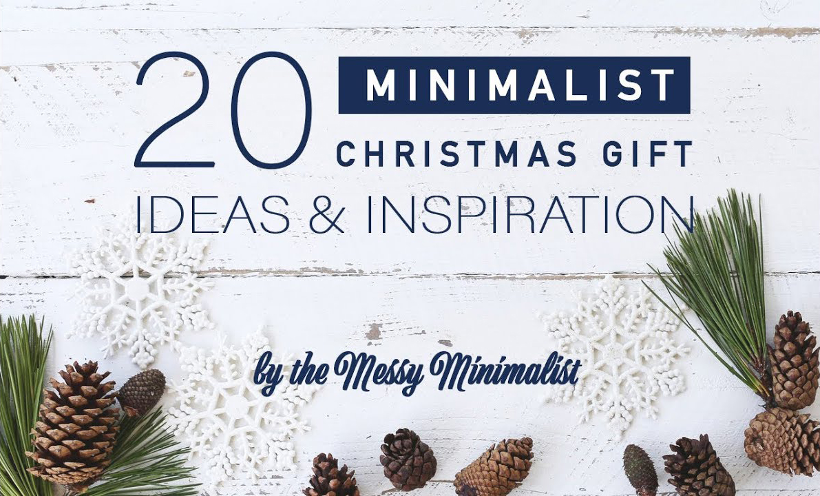 Best Minimalist Gift Ideas for Christmas - Messy Minimalist